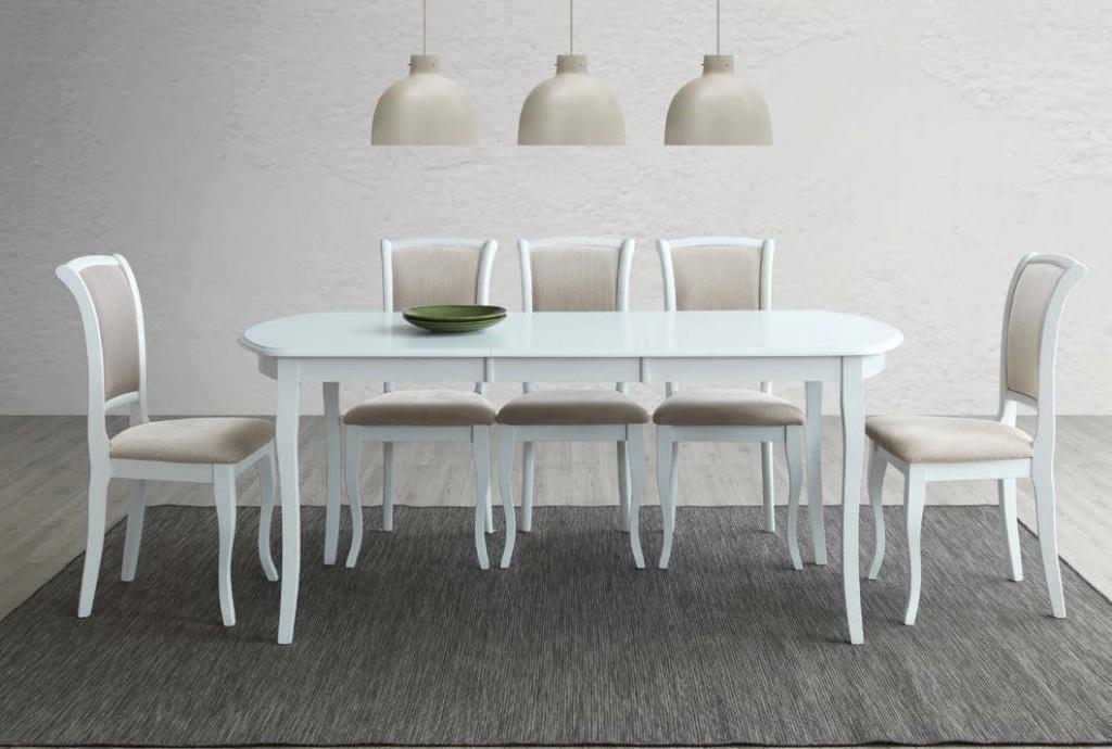 Jedálenský stôl rozkladací 140x80 ALICANTE biela
