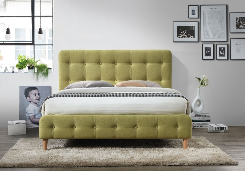 Čalúnená postel ALICE 160x200 zelená