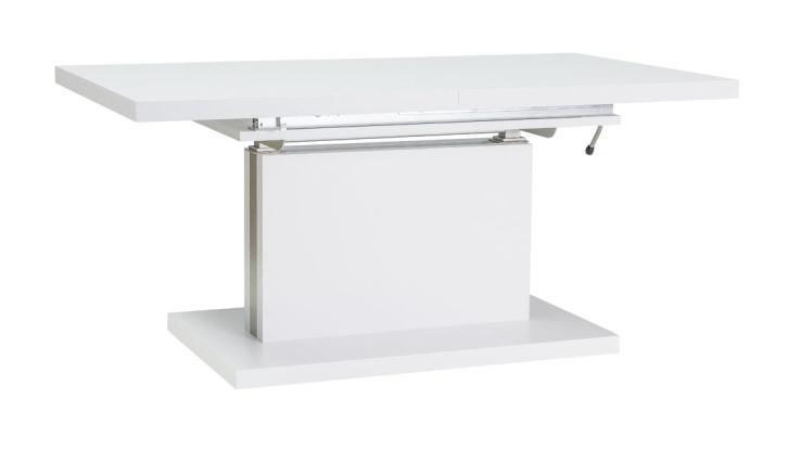 Jídelní/konferenční stůl AMBER rozkládací - bílá
