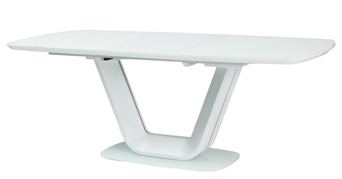 Jedálenský stôl rozkladací 140x90 ARMANI biely
