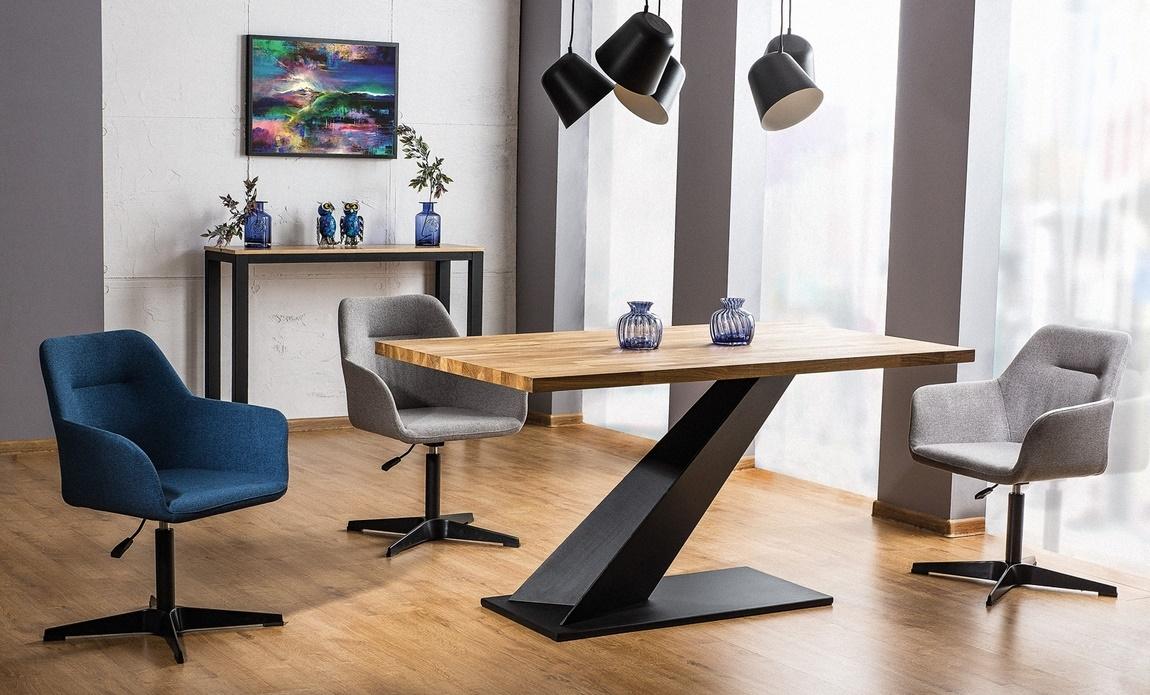 Jedálenská čalúnená stolička KUBO šedá