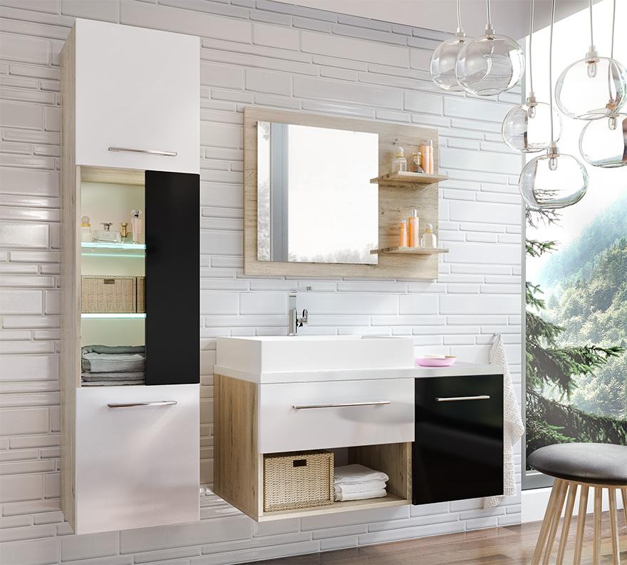 Kúpelňová zostava ARUBA sonoma/černá