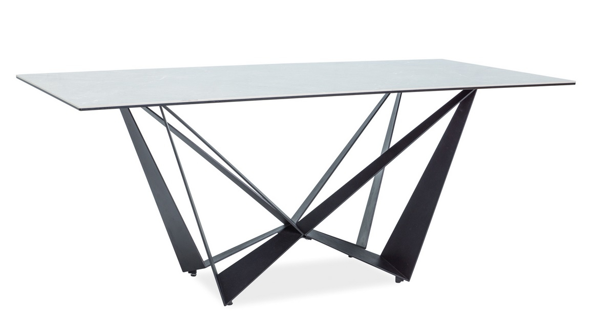 Jedálenský stôl ASTON II čierna/ceramic