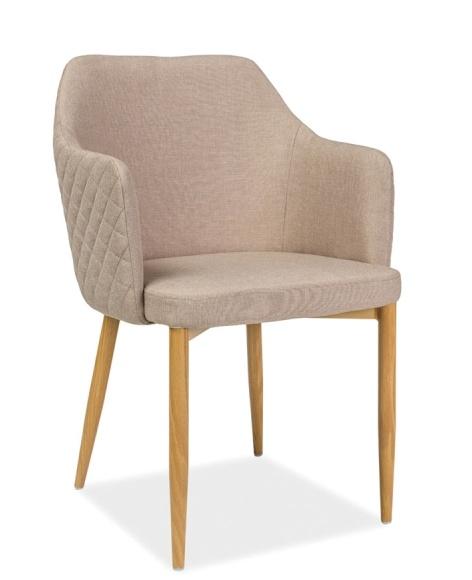 Jedálenská čalúnená stolička ASTOR béžová