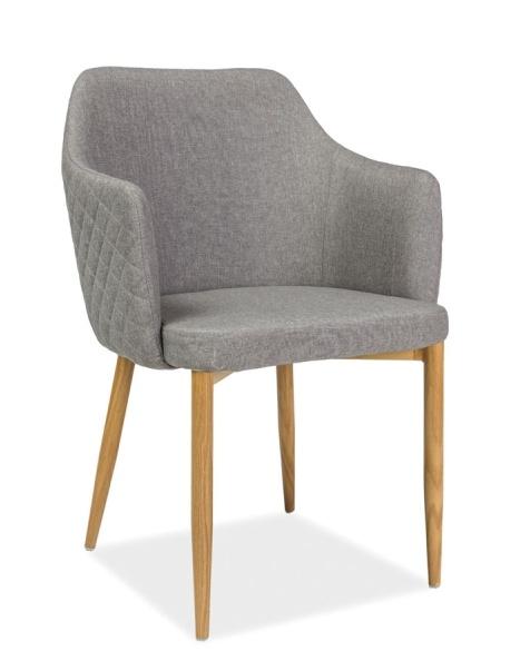 Jedálenská čalúnená stolička ASTOR šedá