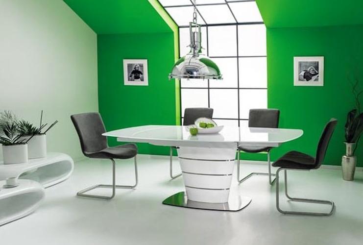 Jedálenský stôl AURELIO rozkladací biely