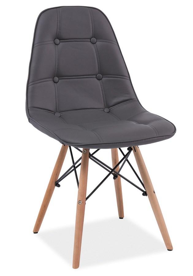 Jedálenská stolička AXEL šedá