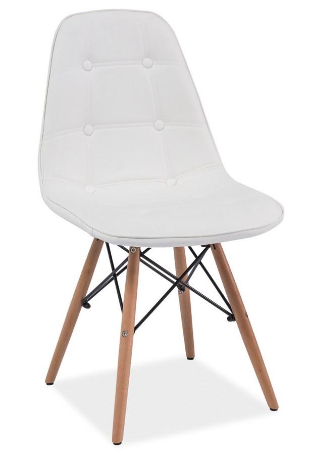 Jedálenská stolička AXEL biela