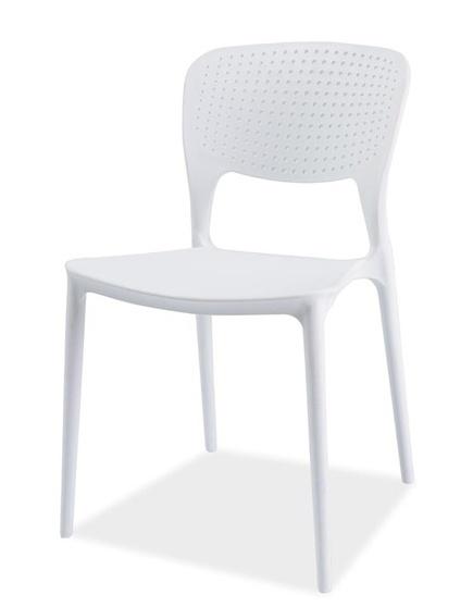 Jedálenská stolička AXO biela