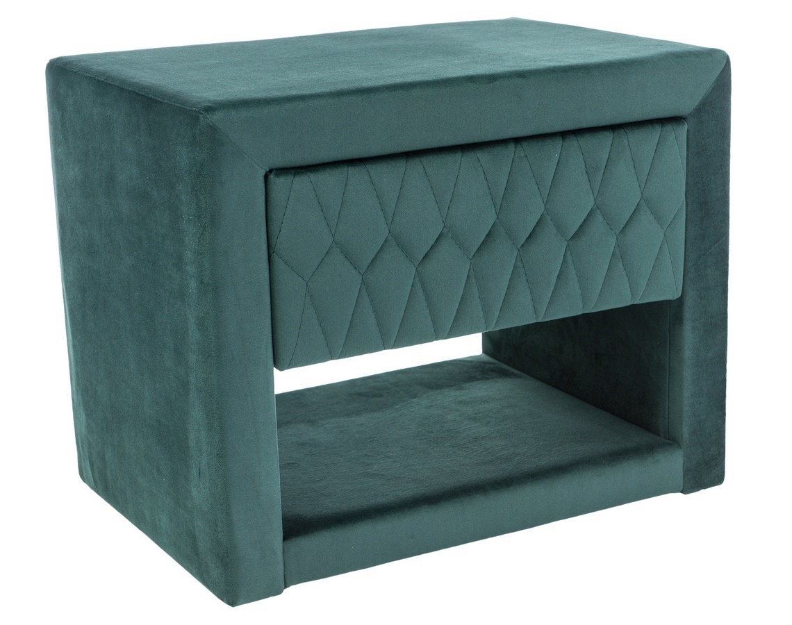 Nočný stolík AZURRO VELVET zelená