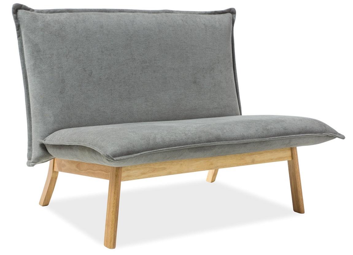 Čalúnené dvojkreslo - sofa BOLLO 2 šedá