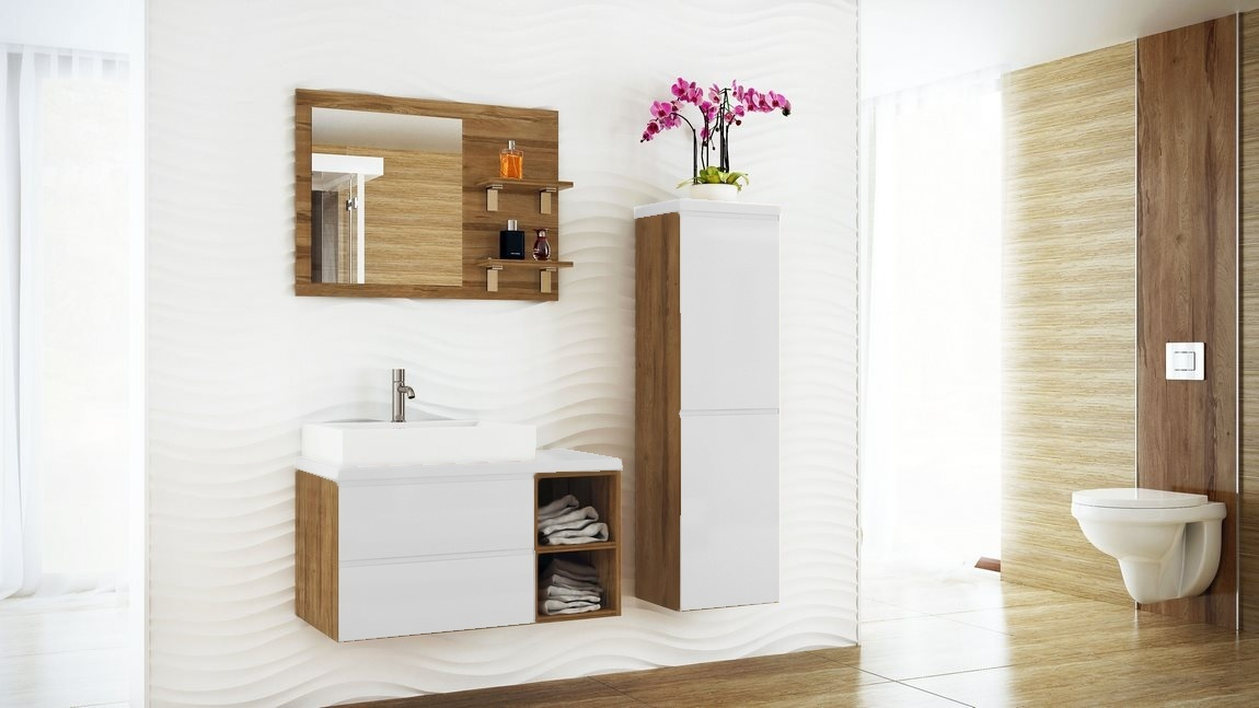 Kúpelňová zostava BONITA II biela lesk