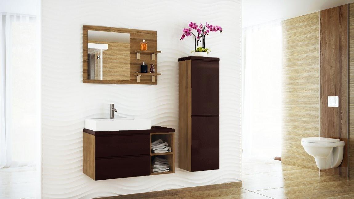 Kúpelňová zostava BONITA II hnědá lesk