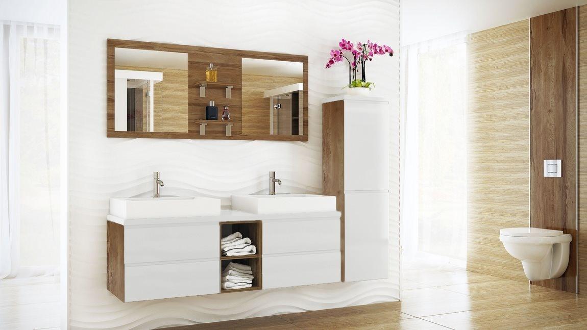 Kúpelňová zostava BONITA biela lesk