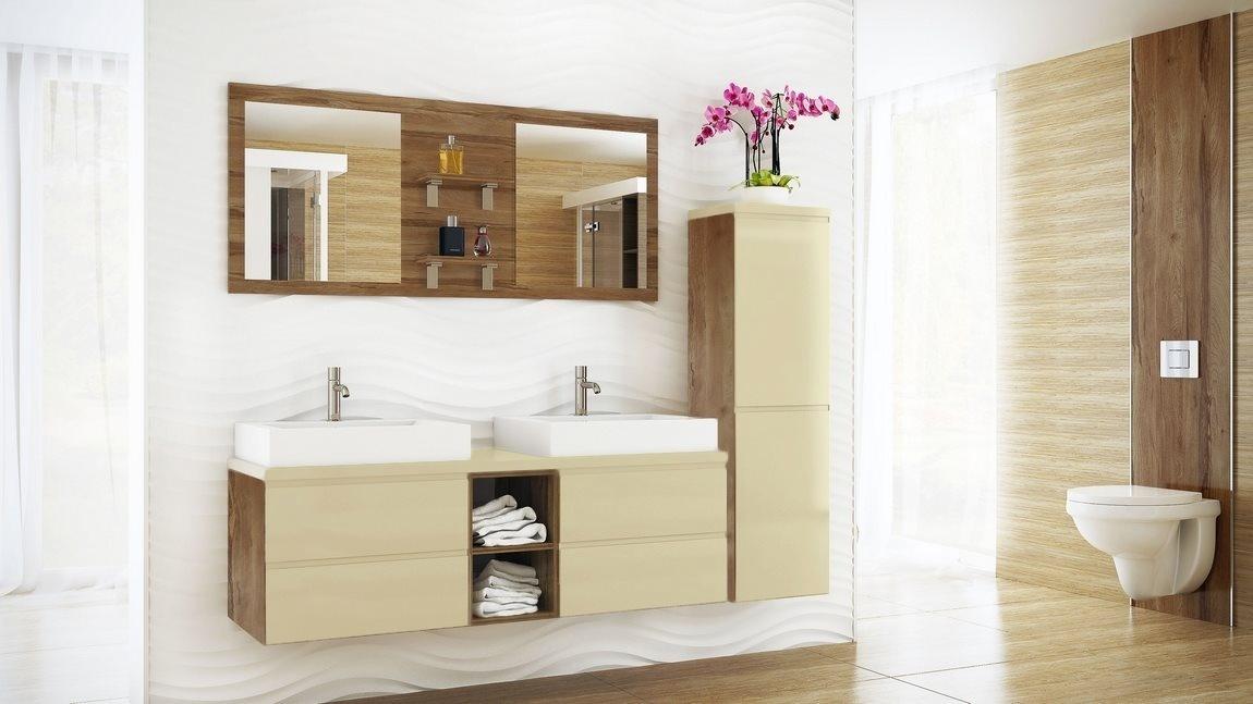 Kúpelňová zostava BONITA vanilka lesk
