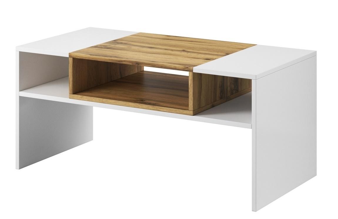 Konferenční stolek BONUS 69 bílá/dub wotan