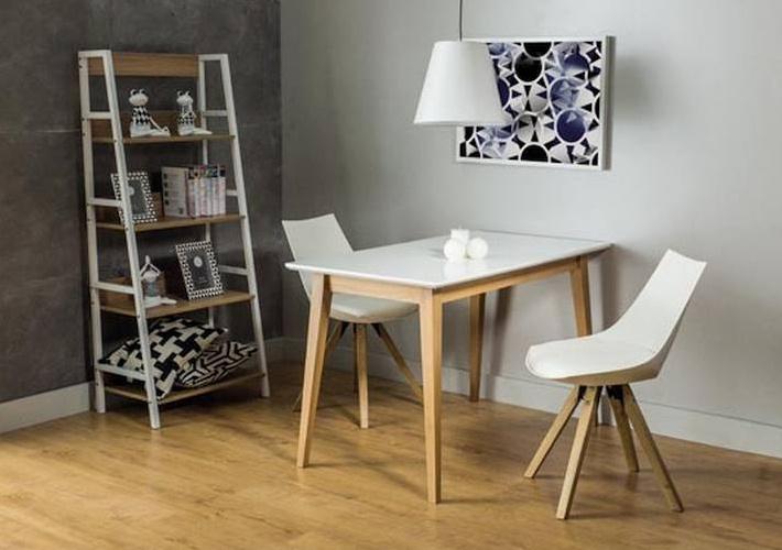 Jedálenský stôl BRAGA biela/buk