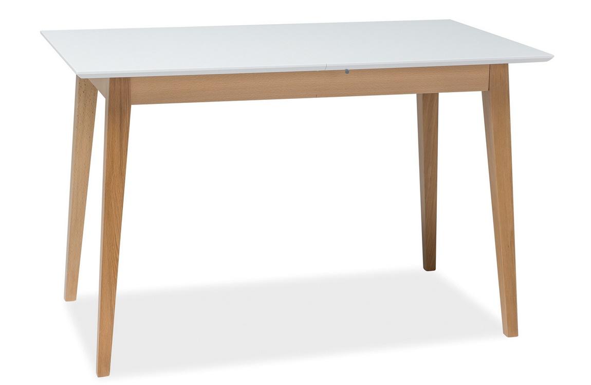 Jedálenský stôl rozkladací BRAGA II biela/buk