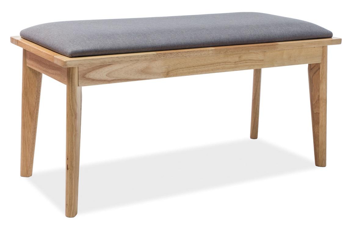 Čalouněná lavice BRANDO šedá/dub - Kliknutím na obrázek zavřete
