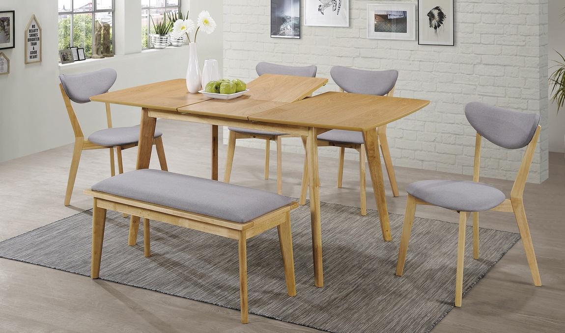Jedálenský stôl rozkladací BRANDO dub 120x80