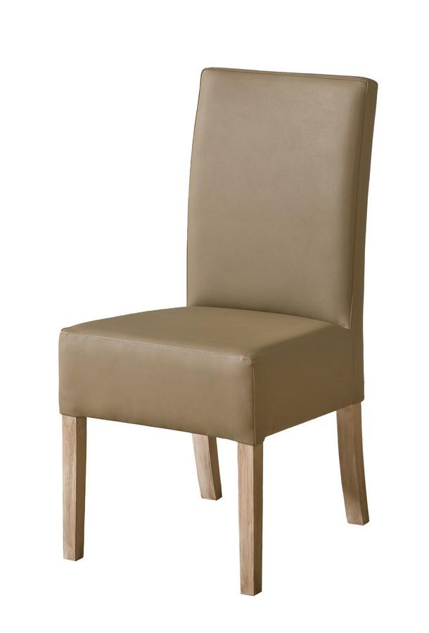 Jedálenská čalúnená stolička CARMELO C23 latte