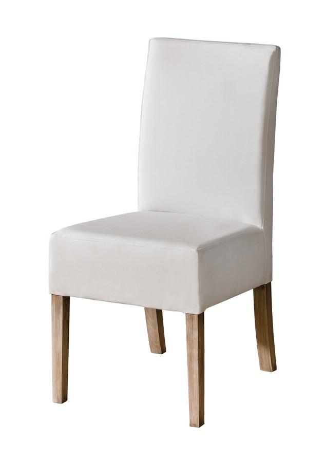 Jedálenská čalúnená stolička CARMELO biela