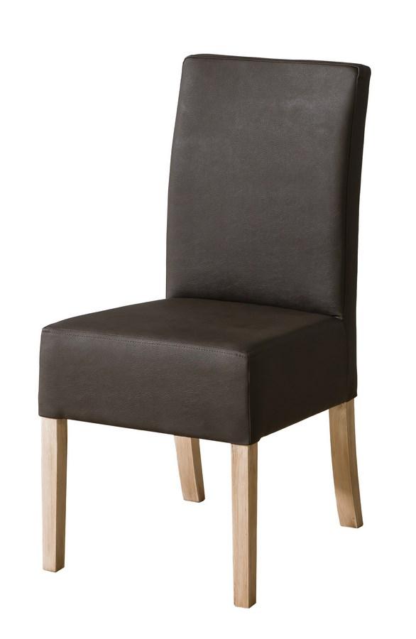 Jedálenská čalúnená stolička CARMELO C23 tmavě hnědá