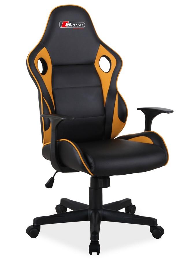 Kancelářské křeslo CARRERA černá/žlutá