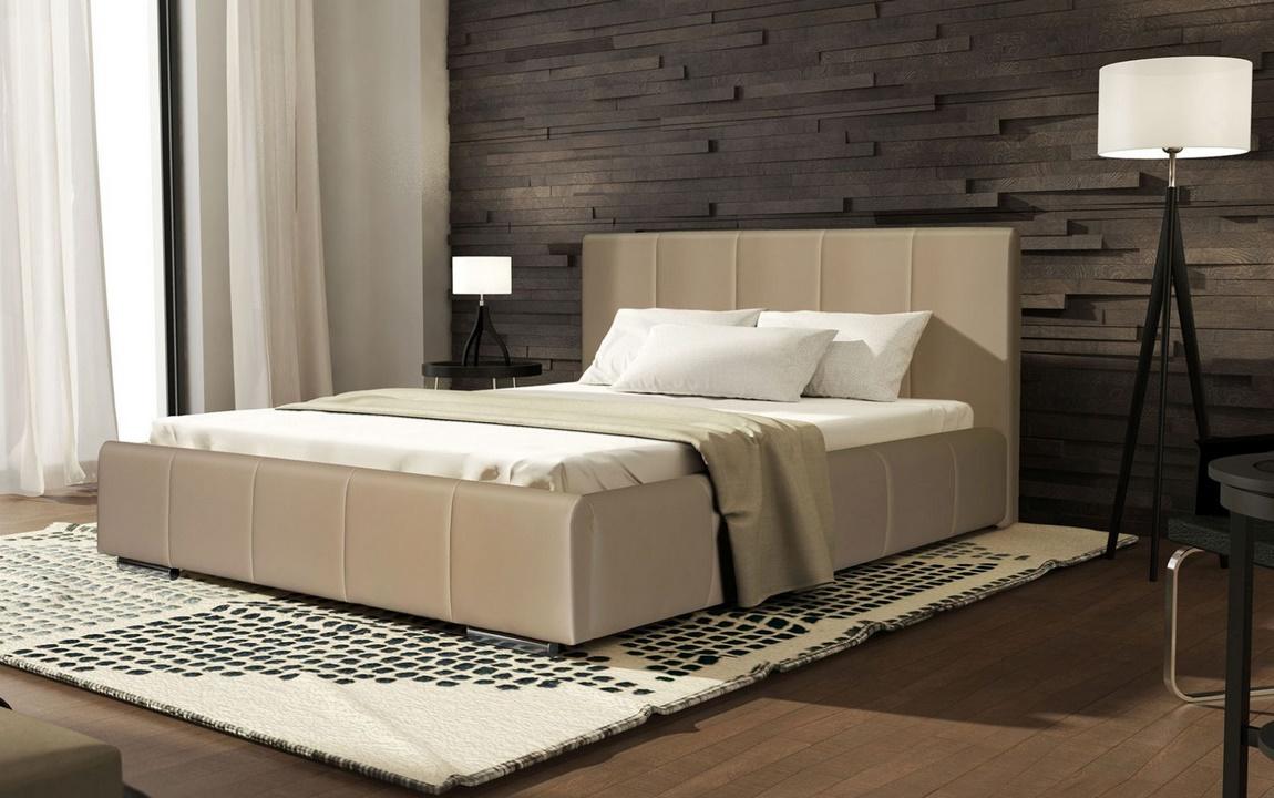 Čalúnená postel CAVALLI 140x200 béžová