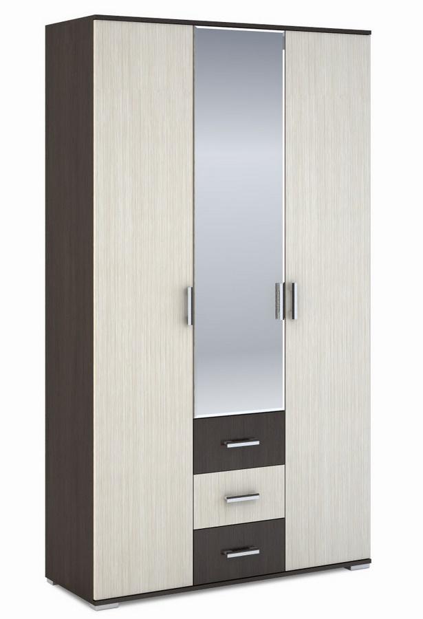 Šatní skříň 3-dveřová ROCHEL 58 cm belfort/wenge