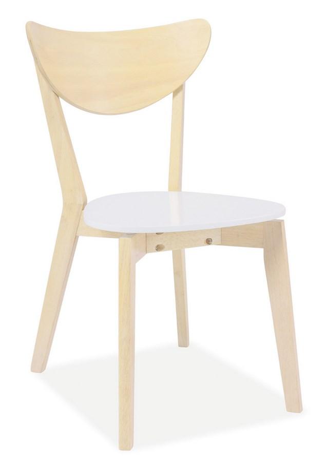 Jedálenská stolička CD-19 biela/dub