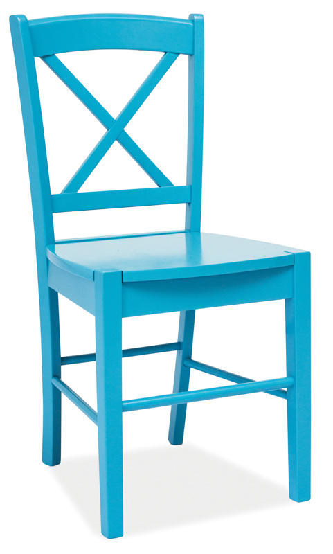 Jedálenská drevná stolička CD-56 modrá