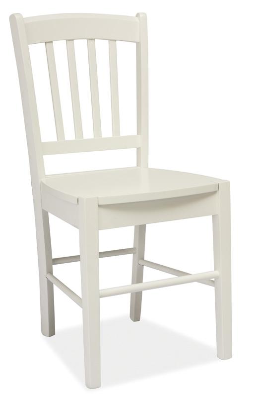 Jedálenská drevná stolička CD-57 biela