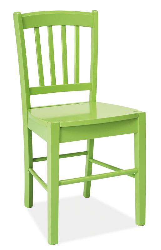 Jedálenská drevná stolička CD-57 zelená