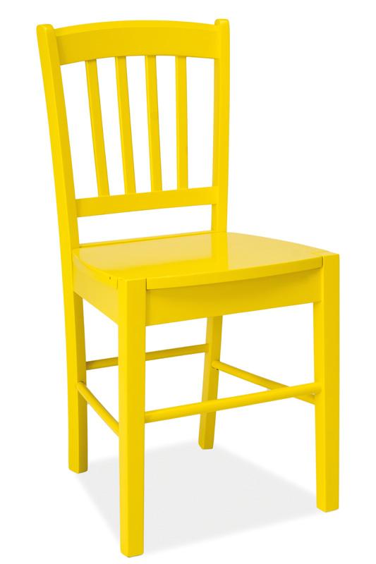 Jedálenská drevná stolička CD-57 žltá