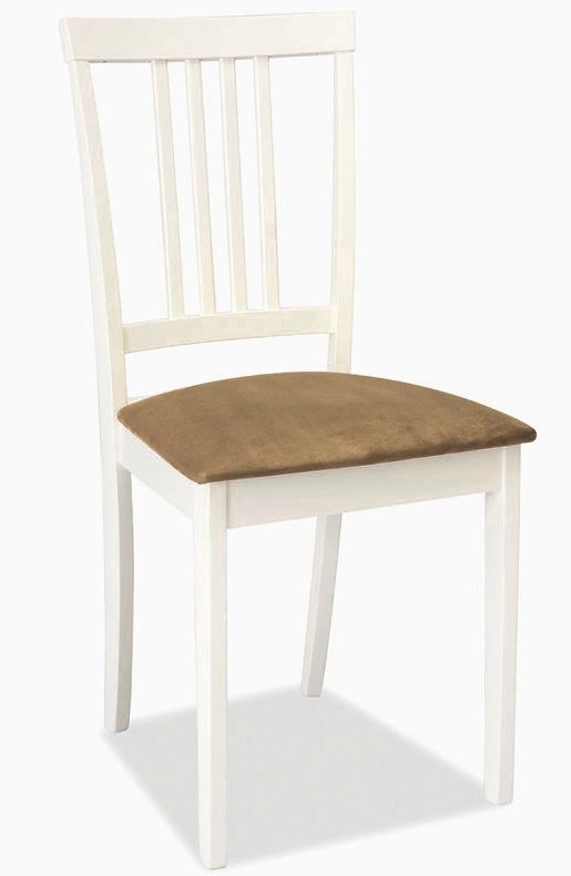 Jedálenská drevná stolička CD-63 biela-béž