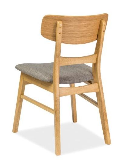 Jedálenská čalúnená stolička CD-61 šedá/dub