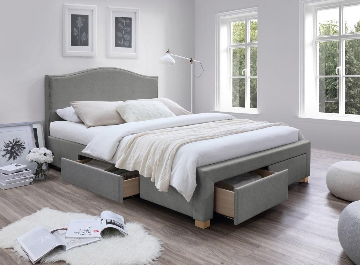 Čalouněná postel CELINE 160x200 šedá