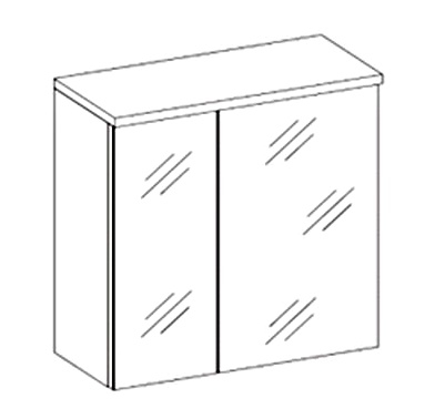 skrinka so zrkadlom PORTO biela