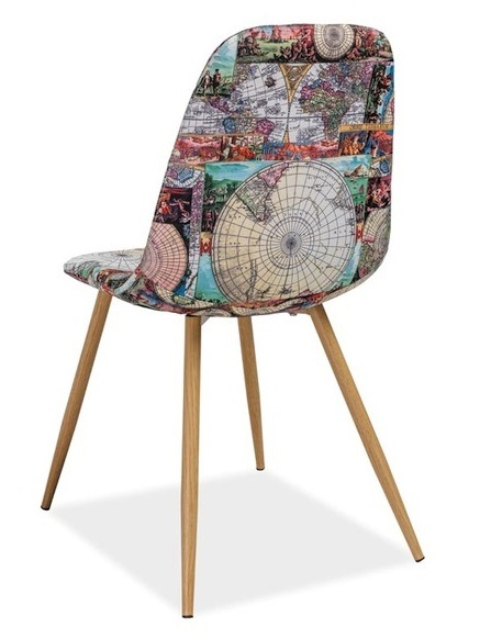 Jedálenská čalúnená stolička CITI mapa