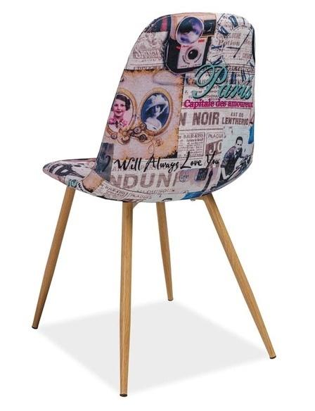 Jedálenská čalúnená stolička CITI Paříž