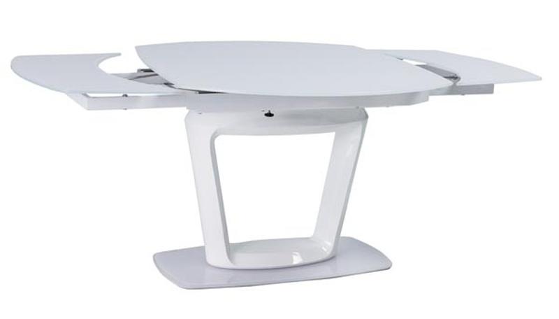 Jedálenský stôl CLAUDIO rozkladací biely