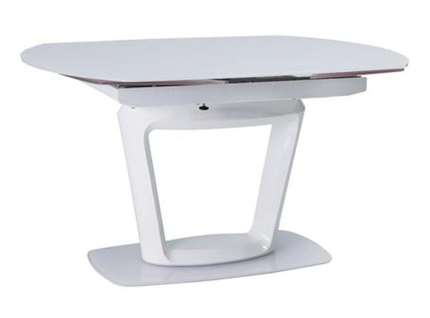 Jídelní stůl CLAUDIO rozkládací bílý