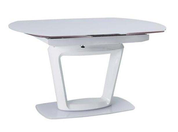 Jedálenský stôl CLAUDIO CERAMIC rozkládací šedá/biela