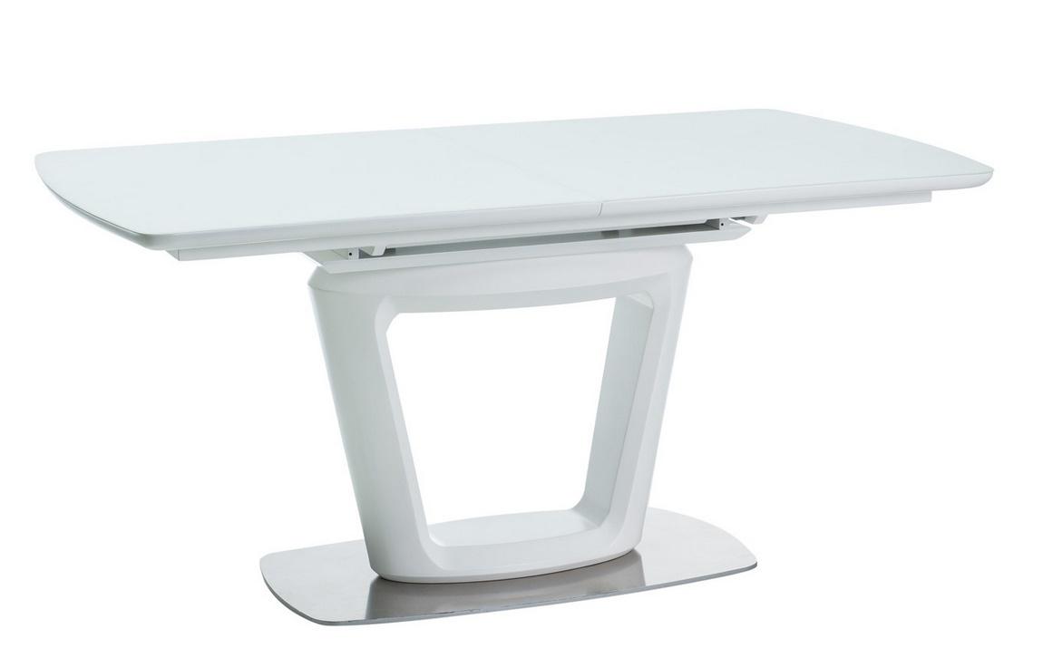 Jídelní stůl CLAUDIO II rozkládací bílý mat