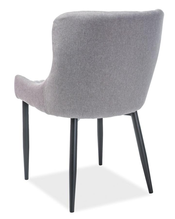 Jedálenská čalúnená stolička COLIN B šedá/čierna