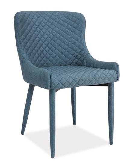 Jedálenská čalúnená stolička COLIN denim