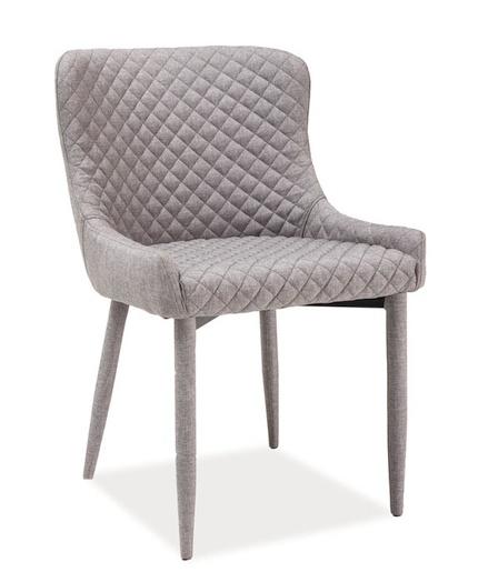 Jádelenská čalúnená stolička COLIN šedá