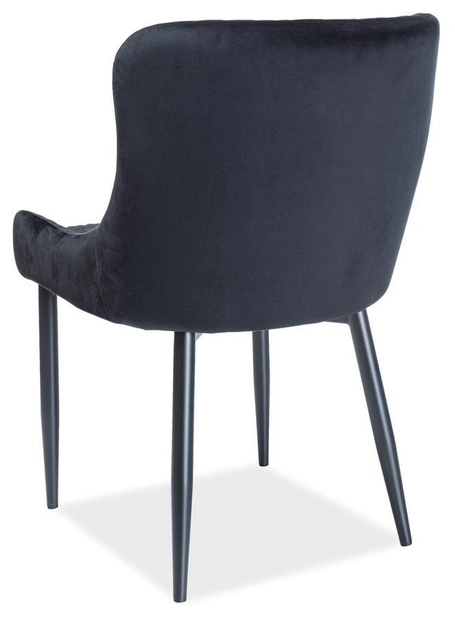 Jedálenská čalúnená stolička COLIN čierna