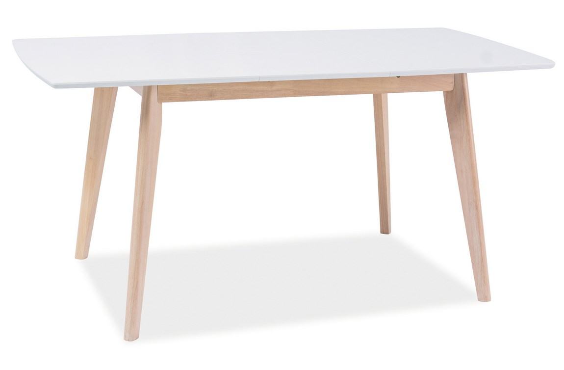 Jedálenský stôl rozkládací COMBO II biela/dub